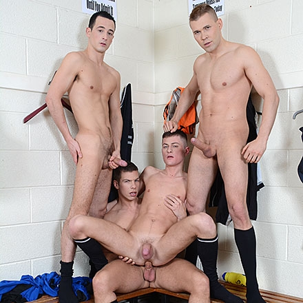 Cute Twink Gets Three Cocks For The Price Of One – Not To Mention Oodles Of Pent-Up Cum! HD
